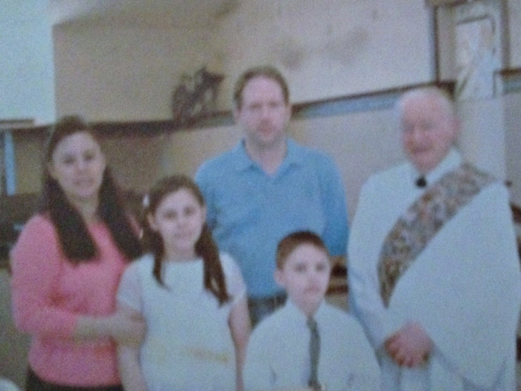 Blurry photo of a photo of my baptism. Hopefully I will find a better one soon.