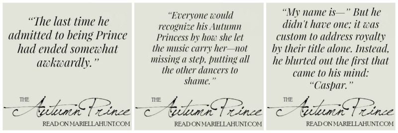 Celebrate October with <i>The Autumn Prince</i> + <i>Serenade</i> is Getting Closer!