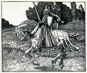 Mounted Knight By Howard Pyle